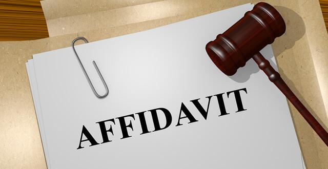 Affidavit Typing /Processing