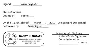 Notary Public Certification Example